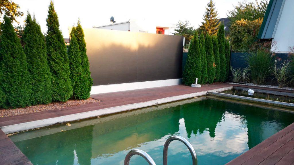 Sichtschutzwand Pool
